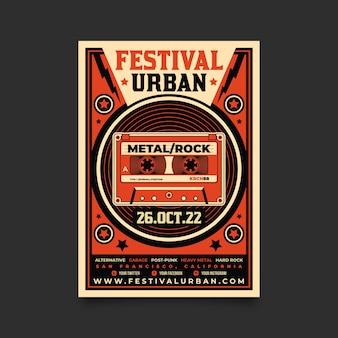 Vintage muziek poster sjabloon