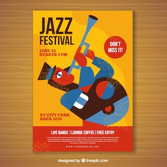 Vintage muziekfestival poster