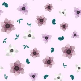 Vintage naadloos bloemenpatroon van kleurrijke tuinbloemen voor stof