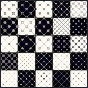 Vintage naadloze patronen met ornamentontwerp