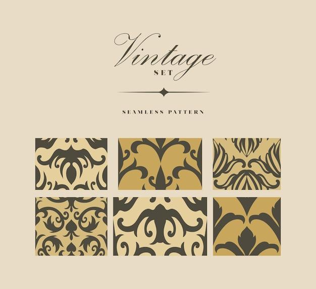 Vintage naadloze patronen