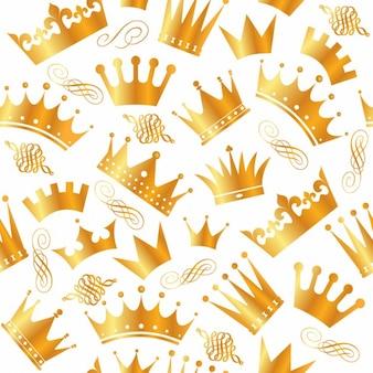 Vintage naadloze patroon met kronen