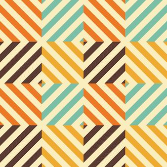 Vintage naadloze patroon met ruitvorm en diagonale lijnen.