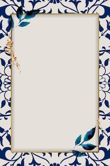 Vintage natuur ornament frame patroon
