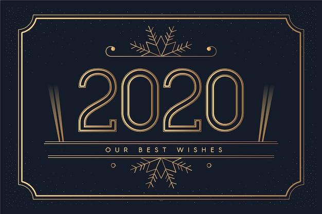 Vintage nieuwe jaar 2020 achtergrond