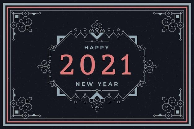 Vintage nieuwjaar 2021 achtergrond