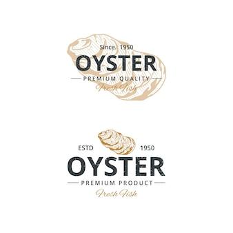 Vintage oester logo sjabloon voor restaurant