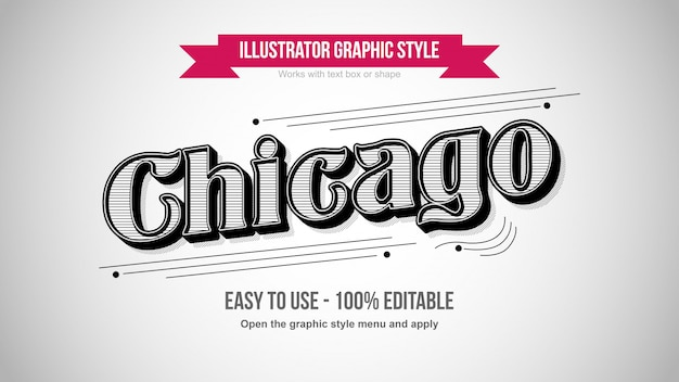 Vintage old school print patroon zwart-wit bewerkbare teksteffect