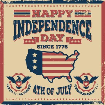Vintage onafhankelijkheidsdag concept