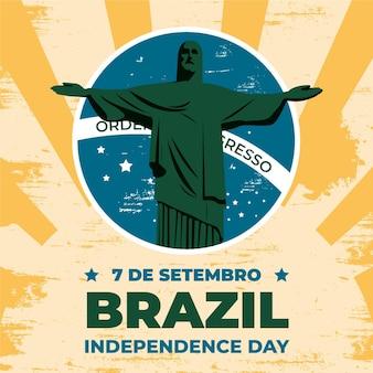Vintage onafhankelijkheidsdag van brazilië concept