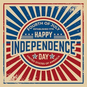Vintage onafhankelijkheidsdag