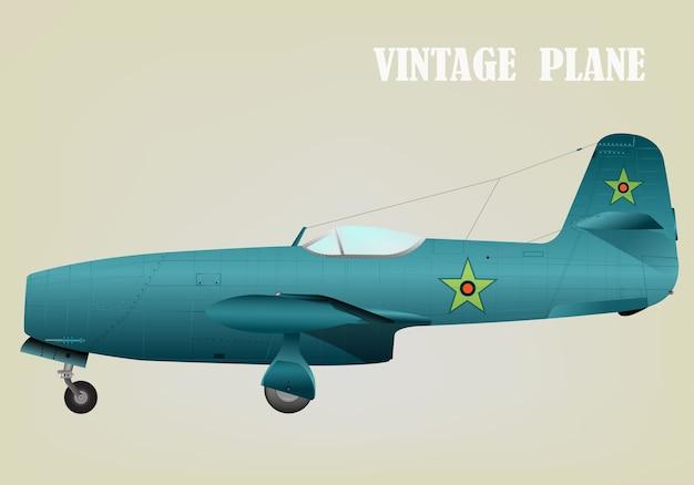Vintage oorlogsvliegtuig vectorillustratie eps 10