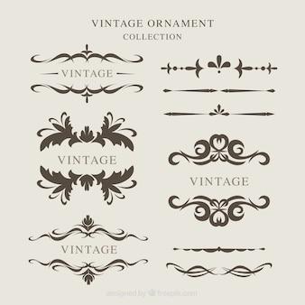 Vintage ornamenten collectie
