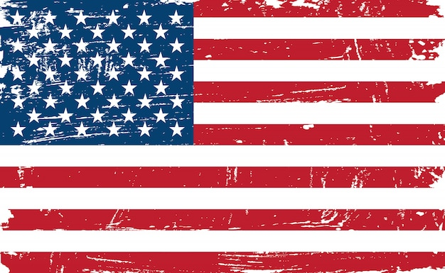 Vintage oude amerikaanse vlag