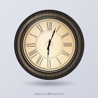 Vintage oude klok vector