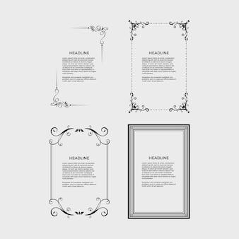 Vintage pagina-frames