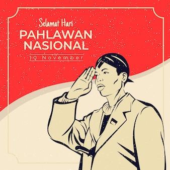 Vintage pahlawan-dag