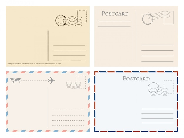 Vintage papieren postkaarten
