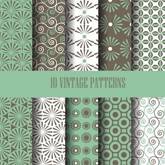 Vintage patroon ingesteld