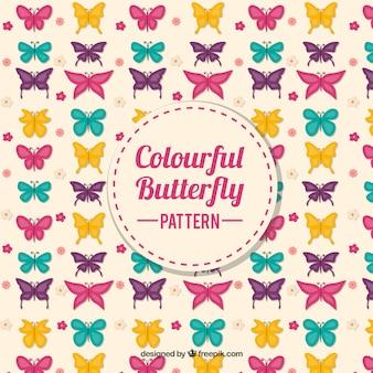 Vintage patroon van kleurrijke vlinders