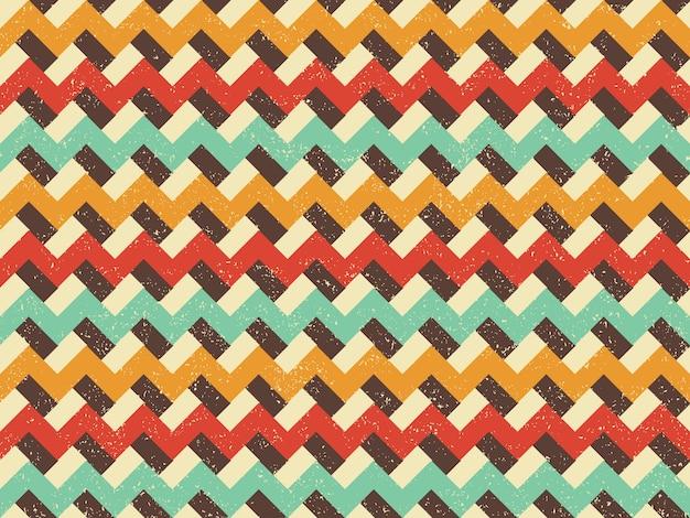 Vintage patroon zigzag retro lijnen achtergrond