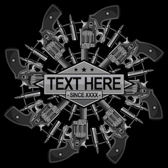 Vintage pistool logo