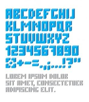 Vintage pixelated typografie
