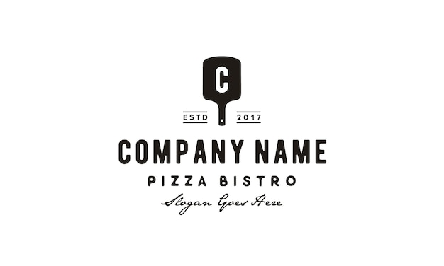 Vintage pizza logo inspiratie
