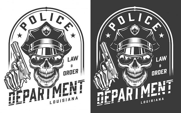 Vintage politieagent embleem concept