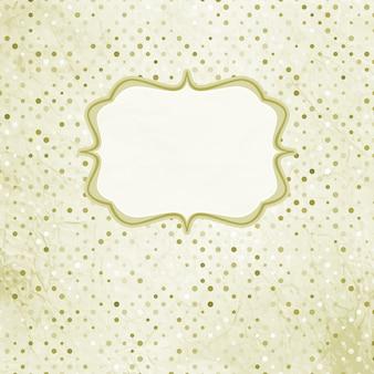 Vintage polka dot kaart. en omvat ook
