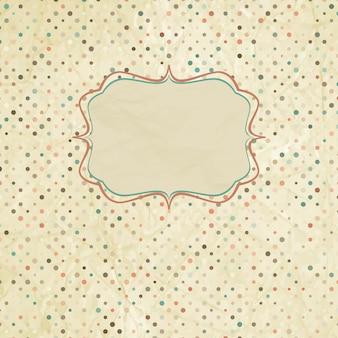 Vintage polka dot kaart.