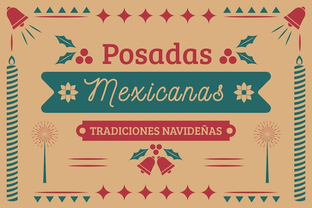 Vintage posadas mexicaanse label achtergrond