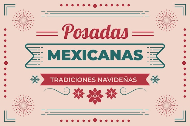Vintage posadas mexicanas achtergrond