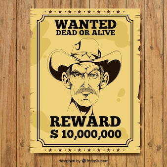 Vintage poster van strafbare