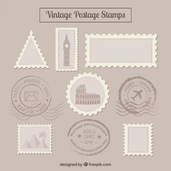 Vintage postzegel van de reis