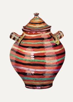 Vintage pot vectorillustratie, geremixt van de kunstwerken van de national gallery of art-collectie