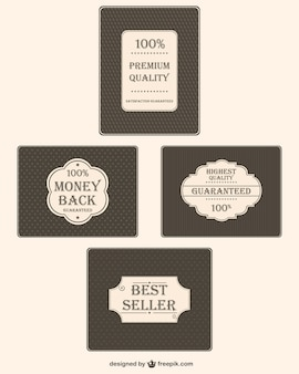 Vintage premium kwaliteit stickers