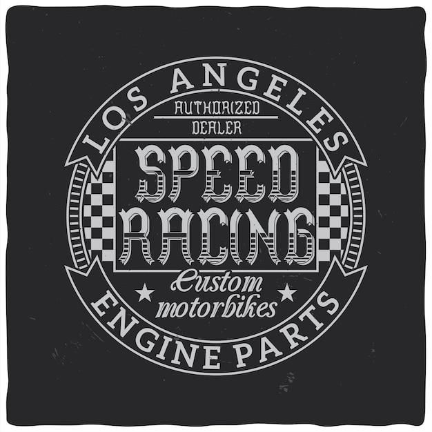 Vintage print voor t-shirt of kleding. retro artwork in zwart-wit voor mode en drukwerk.