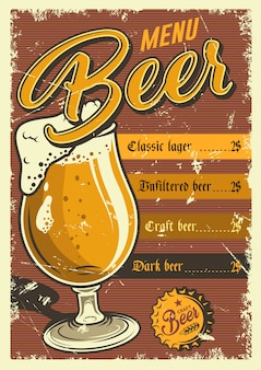Vintage pub poster.