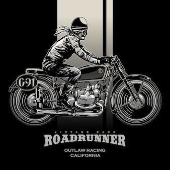 Vintage race motorfiets poster