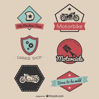 Vintage race-stickers