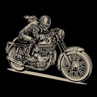 Vintage racemotorfiets