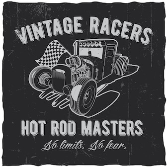 Vintage racers label