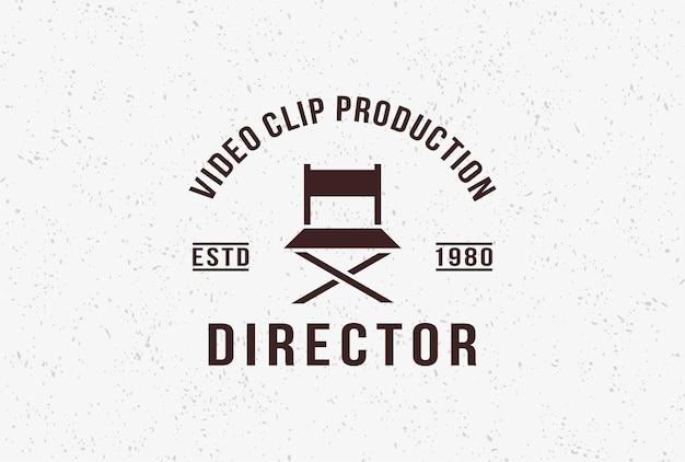 Vintage regisseur film logo ontwerp inspiratie.