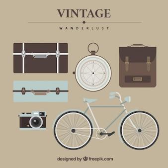 Vintage reizen elementen