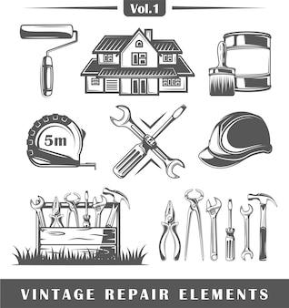 Vintage reparatie-elementen