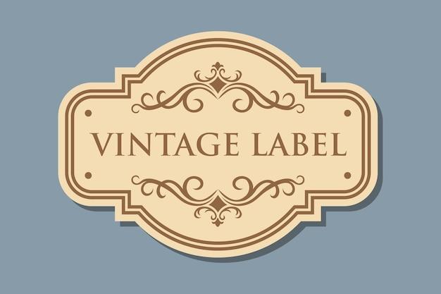 Vintage retro ambachtelijke label
