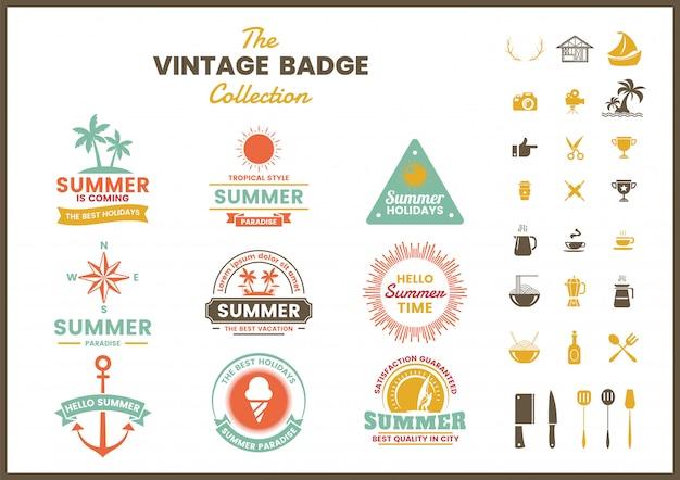 Vintage retro badge sjabloon