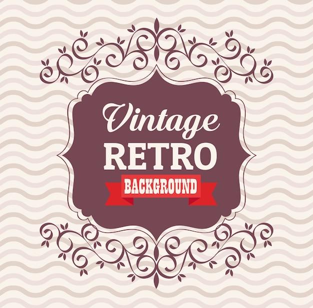 Vintage retro banner met elegant frame en lintontwerp