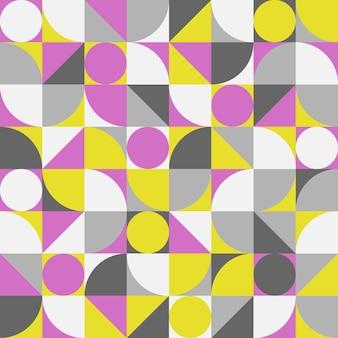 Vintage retro bauhaus abstract vector naadloos patroon